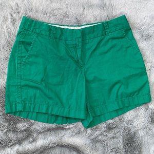 J. Crew broken-in green chino shorts womens size 6
